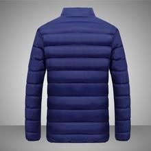 New Jackets Men Autumn Winter Warm Windbreaker Casual Solid Men's Coat Male Slim Fit Homme Jacket Top Quality Mens Parka