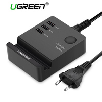 Ugreen 5V 4A 3 Ports USB Charger Station Dock Stand Cargador Adapter EU Plug For IPhone