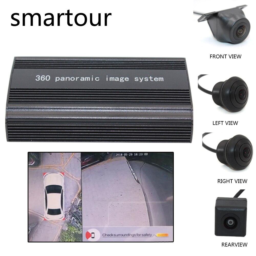 Smartour voiture 360 degrés vue oiseau système Surround accessoires Weivision vue panoramique tout rond système de caméra avec DVR