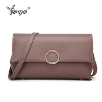 YBYT Brand 2017 PU Leather Package Women Casual Satchel Female Clutch Solid Folding Messenger Bag Ladies