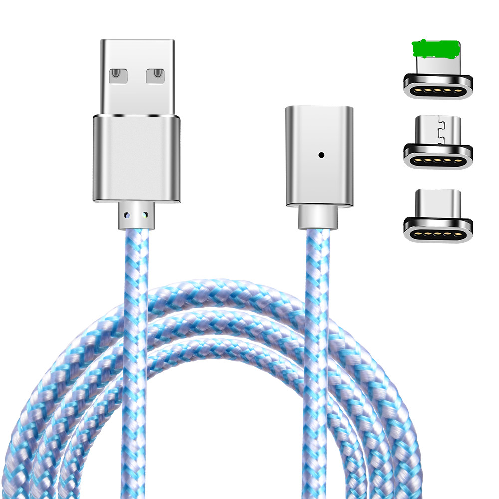 Magnetic Cable 1m Upgraded Nylon Braided Mobiles