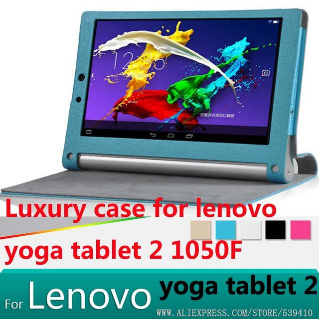 new concept 7e539 1b541 US $9.69  Luxury leather case cover for lenovo yoga tablet 2 10.1 1050F  1051F 1050L1051 1050 tablet cover case + Screen protector +stylus-in  Tablets & ...