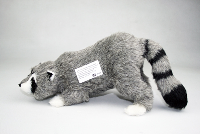 ФОТО lovely simulation raccoon toy handicraft lovely gray raccoon doll gift about 37x12x15cm