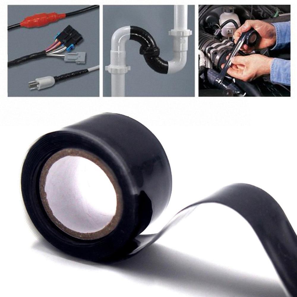 3m 1.5m Black Silicone Tape Waterproof Repair Bonding Sealing Tapes Rescue Self Adhesive Fusing Wire Tools Hose Pipe Useful