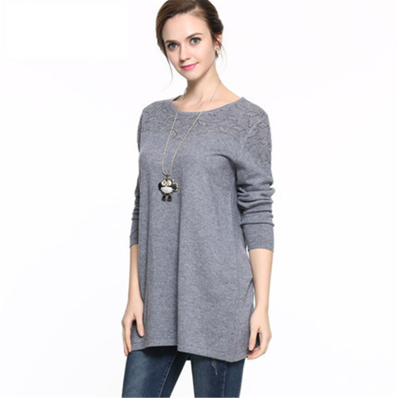 10c8749595 5XL 6XL 4XL Plus Large Size Cashmere Wool Sweater Women Pullover Ladies  Autumn Winter Warm O Neck Kitted Sweaters Jumper Female-in Pullovers from  Women s ...