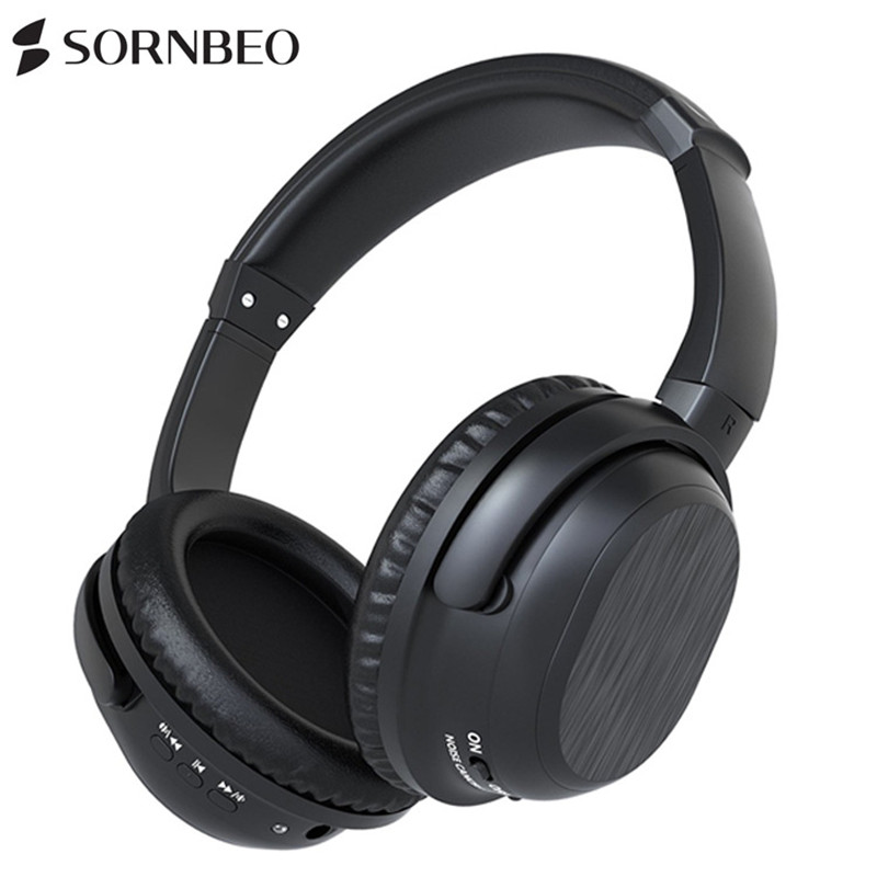 Active Noise Cancelling Headset Bluetooth Headset HiFi Sound Quality Stereo Wireless Sport Business Headset for Music Earphone remax wireless music bluetooth headphones headset with hd mic noise cancelling hifi sound 3d stereo bass for music phone