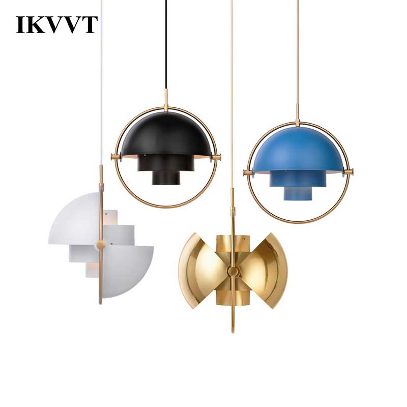 IKVVT Moderne Pendentif Lumières E27 Verre Métal 5 Couleurs Pendentif Lampe Transformation Créatrice Lampe Pour Salon Décor À La Maison