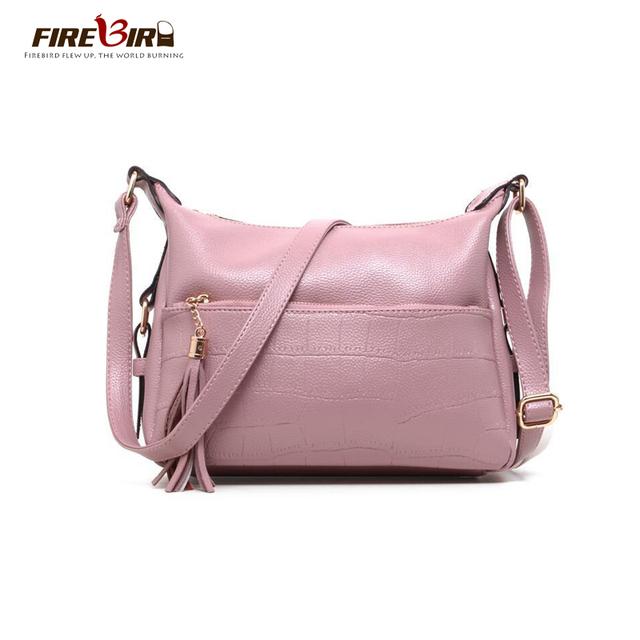FIREBIRD! bolsa de Ombro Vagabundos bolsa de couro Das Mulheres da marca Top Jacaré Duplo zíper sacos Crossbody para as mulheres Azul, preto, rosa Z172