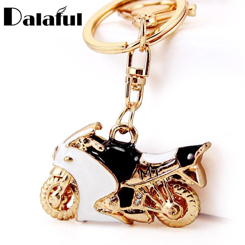 Motorcycle Autobike Enamel Crystal Keychains Purse Bag Buckle Pendant For Car Keyrings Key Chains Holder Women K312
