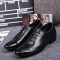 Новое Прибытие Натуральная Кожа Мужчины Платье Обувь мужская Острым Носом Плоские Oxfords Обувь Мода Формальные Бизнес Для Мужчин Zapatos Hombre