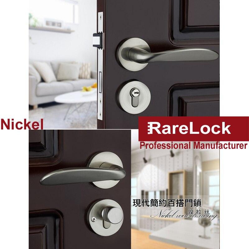 Poignée de meubles en alliage de Zinc LHX belle salle de bain serrures intérieures de chambre en bois serrure de porte accessoires matériels a