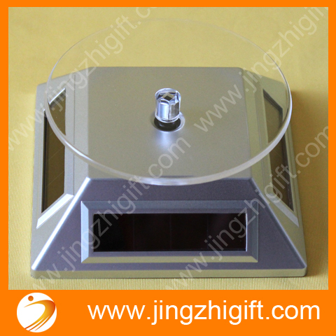 Solar Power Display Turntable For Jewelry And Watch Display Promotions