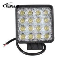 16 LEDs Work Light 12V 48W Trucks Lamp 4 Inch 24V Off Road Flood Beam Car