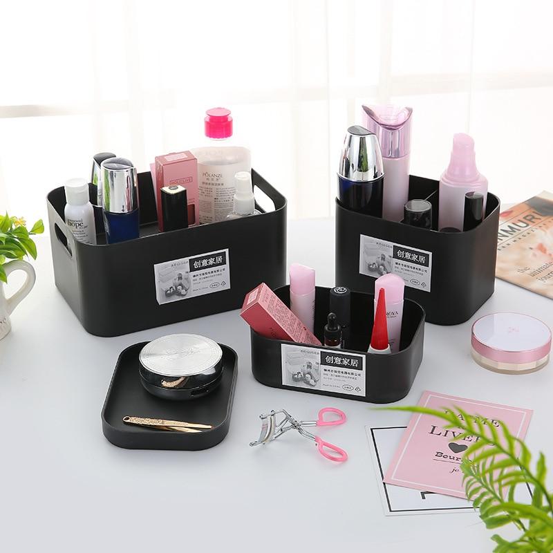 Agressief Dikke Cosmetica Organisator Plastic Met Deksels Makeup Box Desktop Kaptafel Opslag Nagellak Lippenstift Organizer Beauty Case
