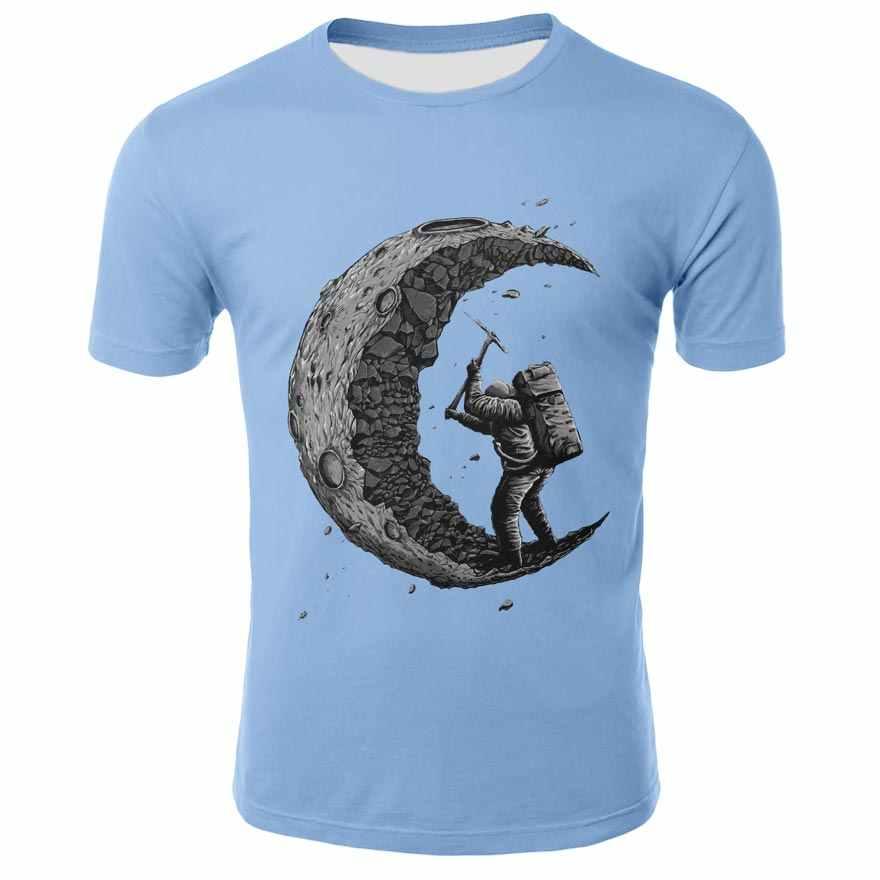 2019 Mais Novo camisa Dos Homens T galaxy espaço impresso 3D gato criativo 3d t camisa dos homens t tops t-shirts