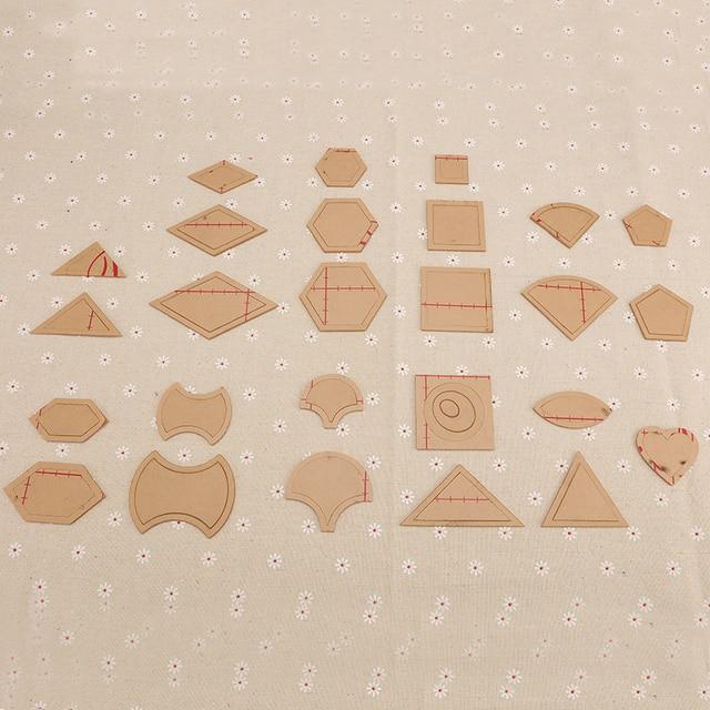 54 STÜCKE gemischt quilt vorlagen acryl diy tools für patchwork ...