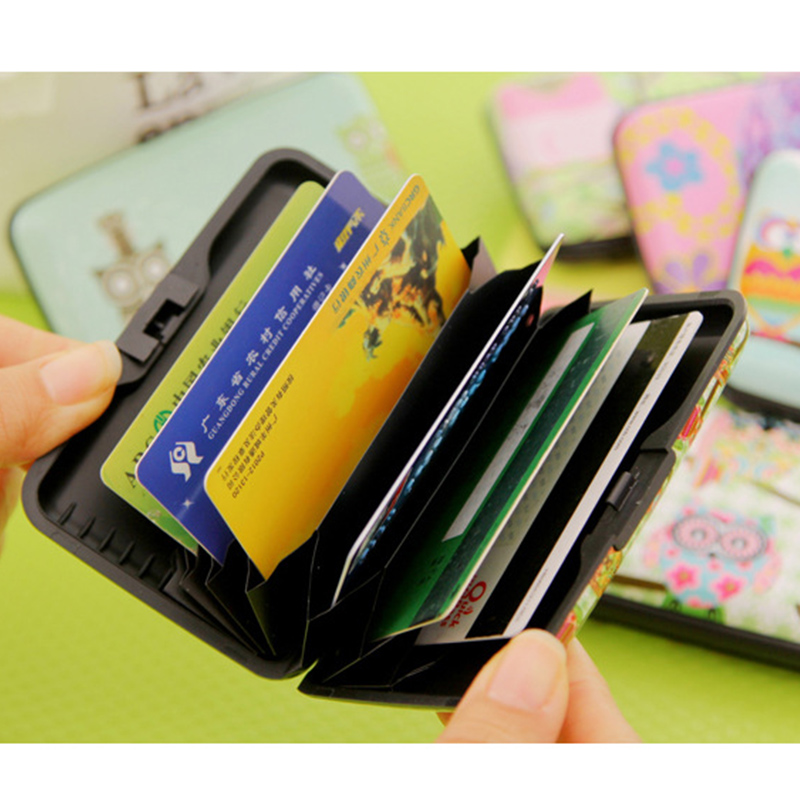 new arrival owl plastic box design card holder credit bank card case wallet 7 pockets in card id holders from luggage bags on aliexpresscom alibaba - Plastic Credit Card