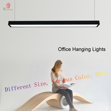 LED Aluminum Office Hanging Lights Modern Connective Customize Combo Ceiling Long Tube Building Meeting Room Lighting