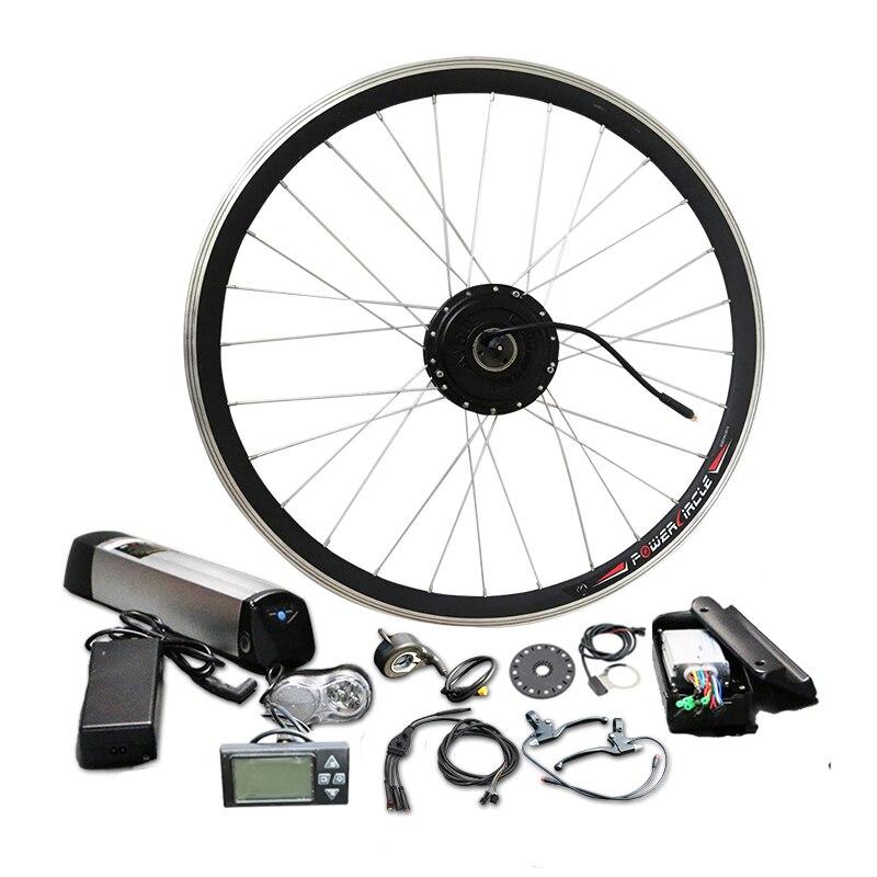 Facile Installer Bouilloire Batterie e vélo kit de conversion de Roue Avant Moteur 250 w/350 w/500 w puissance facultatif JSE-091
