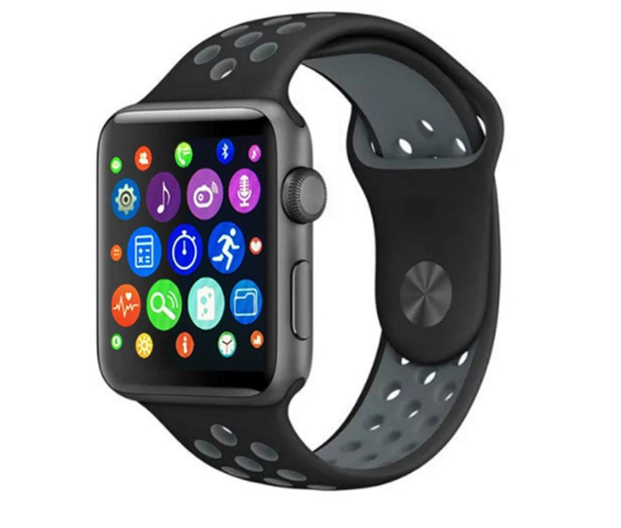 ФОТО 2017 New Bluetooth Smart Watch iwo 2nd Generation MTK2502C smartwatch clock for apple Samsung phone morethan A9  IWO1:1