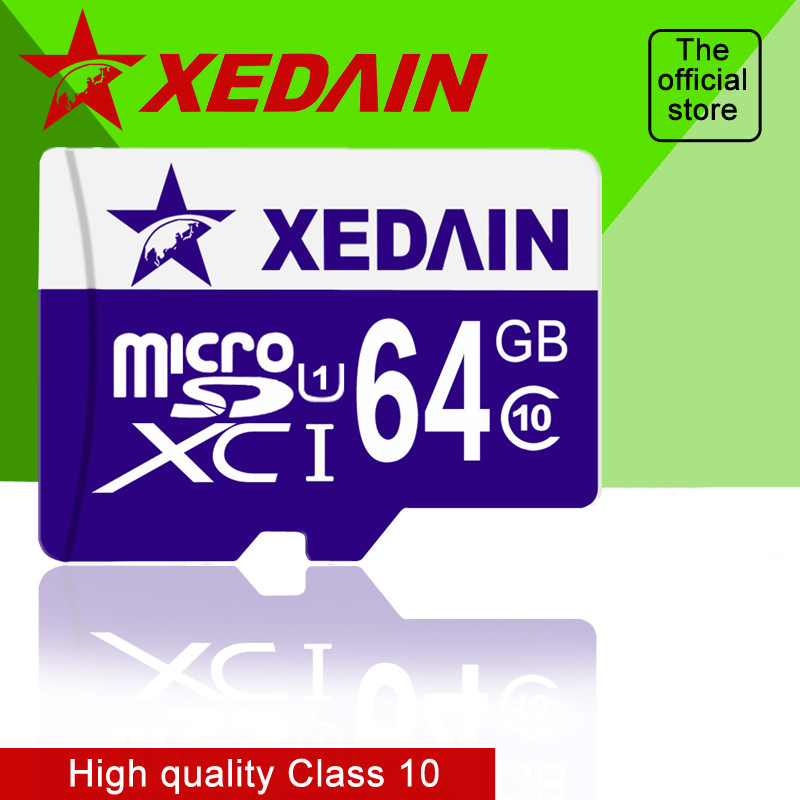 Original Fast Speed 32GB Class 10 16GB 64GB Class10 Flash TF Cards Memory Cards Free Cards For Phones With Retail Package XEDAIN subtraction 52 flash cards