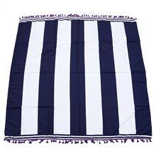 Лидер продаж полиэстер сине-белое пляжное полотенце в полоску боди Йога коврик настенный дорожный банный полотенце для плавания драпировка флаг