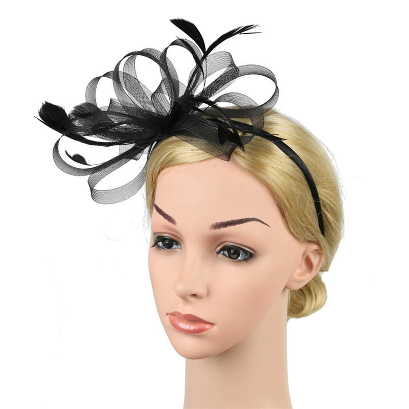 Fascinators Hat for Women Tea Party Headband Fancy Dress Accessories Wedding Hair Accessories For Women Hairband J12# (12)