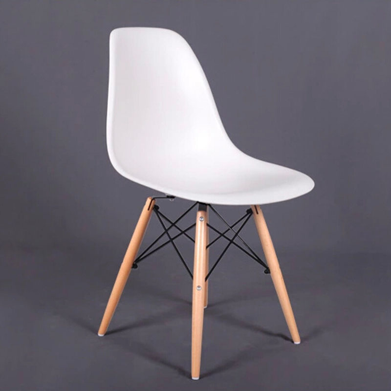 4 Pieces For A Lot PP Plastic Dining Chairs With Beech Wood Legs Original  Design Side