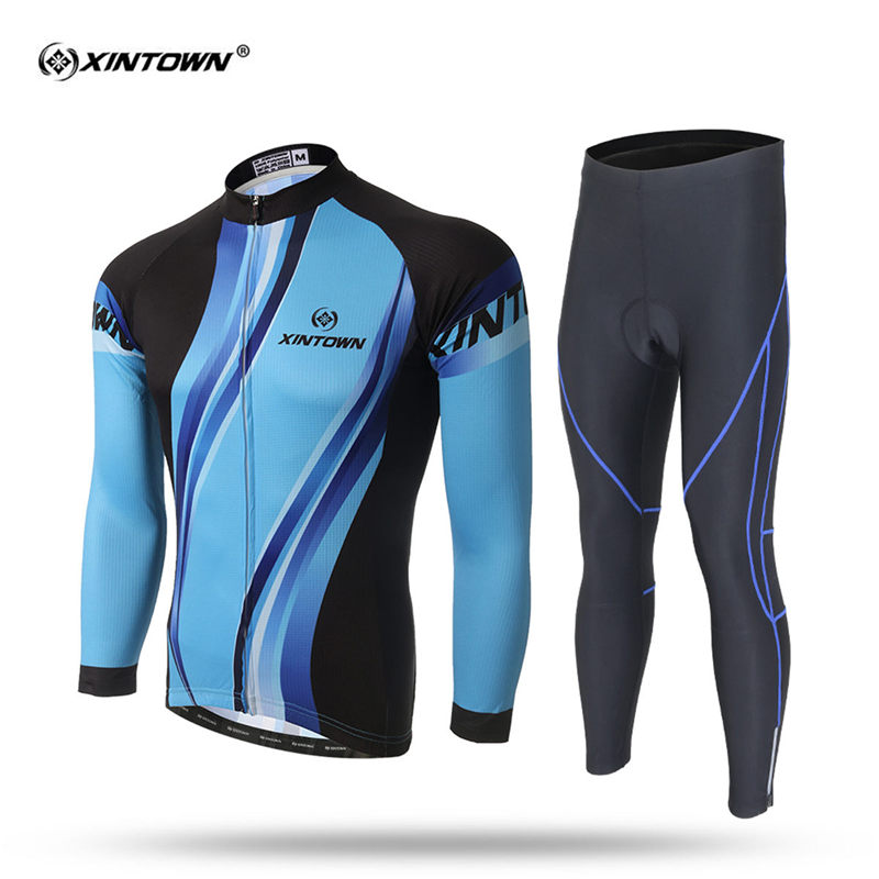 XINTOWN 2018 Pro Long Sleeve Spring Cycling Set Men MTB Bike Clothing Uniform Racing Bicycle Clothes Wear Maillot Ropa Ciclismo 2017 mavic maillot ciclismo zebra pattern men personality long sleeve cycling breathable bike bicycle clothes polyester s 6xl