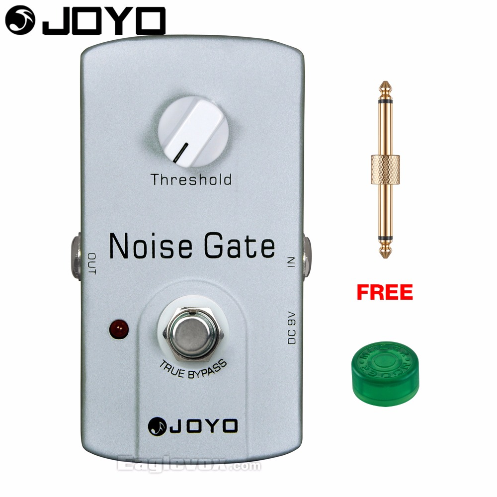 JOYO JF-31 Noise Gate Electric Guitar Effect Pedal True Bypass with Free Connector and Footswitch Topper mooer ensemble queen bass chorus effect pedal mini guitar effects true bypass with free connector and footswitch topper
