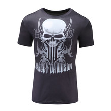New Fitness Compression Shirt Men Anime Skull Man Hulk Captain America 3D Male T-Shirt Bodybuilding Crossfit Fashion Tops Tees