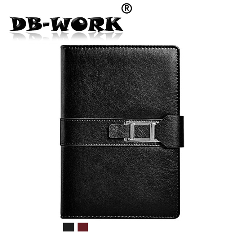 2018 A5 line the loose leaf notebook business diary Shuangkou notebook office stationery cortex can be customized 2018 a5 retro buckle loose the high grade leather notebook business notebook diary custom stationery