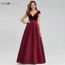 Seksi bordo Abiye hiç güzel EP00982BD A-Line v yaka kadife zarif uzun Abiye giyim Abiye Gece Elbisesi 2020