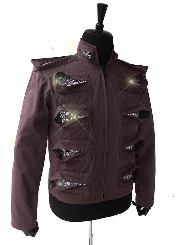 Custom Made Professional Cosplay MICHAEL JACKSON Costume This is it The mirror man Punk Jacket Laser Diamond Cotton Jacket