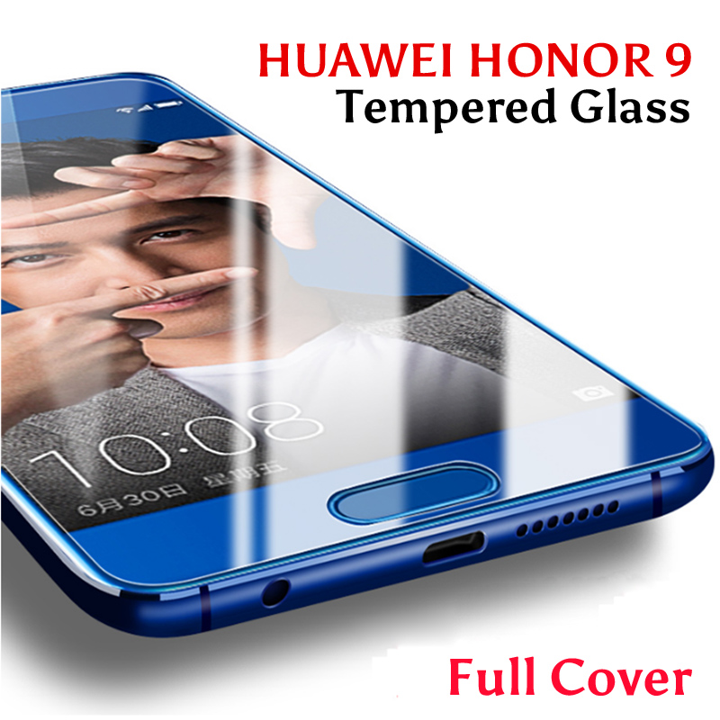 2 Pack Huawei Honor 9 Tempered Glass For Huawei Honor 9 Screen Protector Film Full Cover Honor 9 Case Huawe Honor9 Glas STF-L09