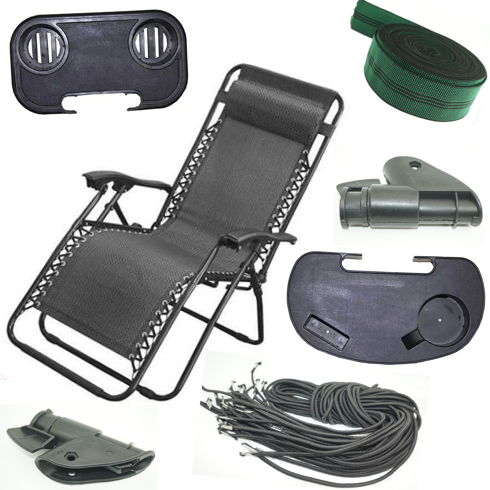 Folding Zero Gravity Reclining Lounge Portable Garden Beach Camping Outdoor Chair Sun Loungers Part Factories And Mines Tools