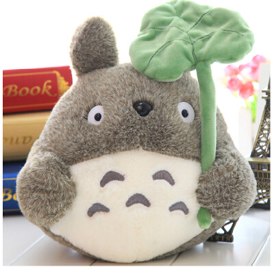 Plush doll 1pc 25cm cartoon anime lovely lotus leaf totoro little home decoration children stuffed toy creative gift for baby