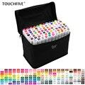TouchFive 30/40/60/80 rotuladores de colores conjunto de marcadores de bocetos de doble cabeza graso tinta de Alcohol profesional suministros de arte para dibujar