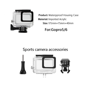 Image 3 - SnowHu for Gopro Hero 7 6 5 Accessories Waterproof Protection Housing Case Diving 45M Protective For Gopro Hero Camera LD08