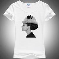 Women S T Shirt 3d Audrey Hepburn Woman T Shirt O Neck Short Sleeve Stylish Illustration