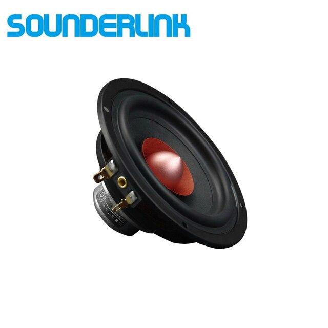 2 Pçs/lote Sounderlink 4 polegadas full range speaker woofer tweeter midrange driver para Diy HiFi monitor de palco sistema de áudio