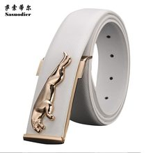 Strap male genuine leather smooth buckle casual all-match commercial denim waist of trousers belt pocket