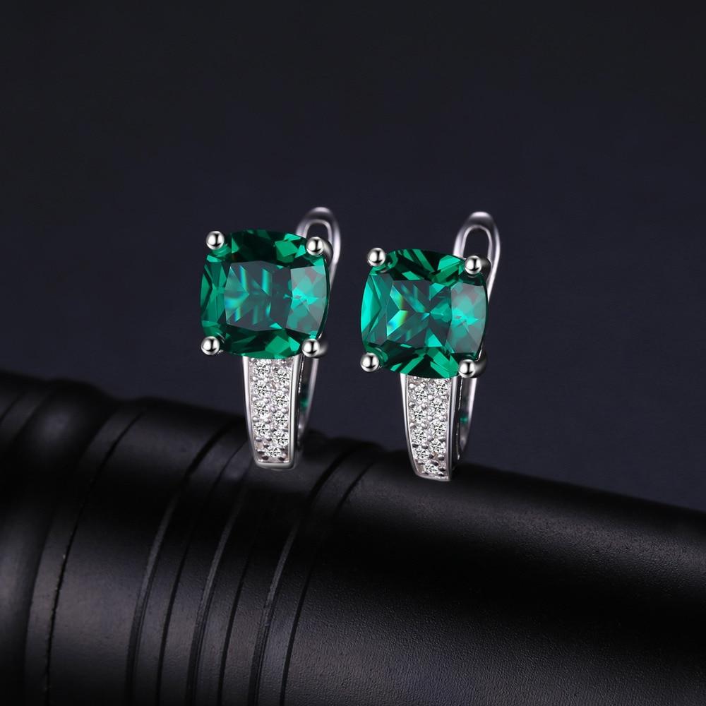 JewelryPalace Yastığı 3.1ct Yaşıl Zümrüd Klip Sırqalar 100% - Gözəl zərgərlik - Fotoqrafiya 2