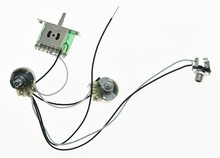 High quality Prewired Guitar Wiring Harness 1V1T Large Alpha  250K Pots 5 Way Pickup Switch