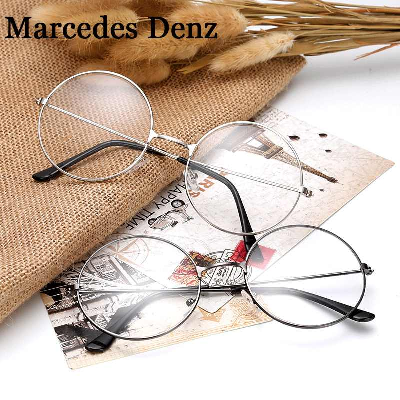 233b13b85408a HOT Cheap small round nerd glasses clear lens unisex gold round metal frame  glasses frame optical