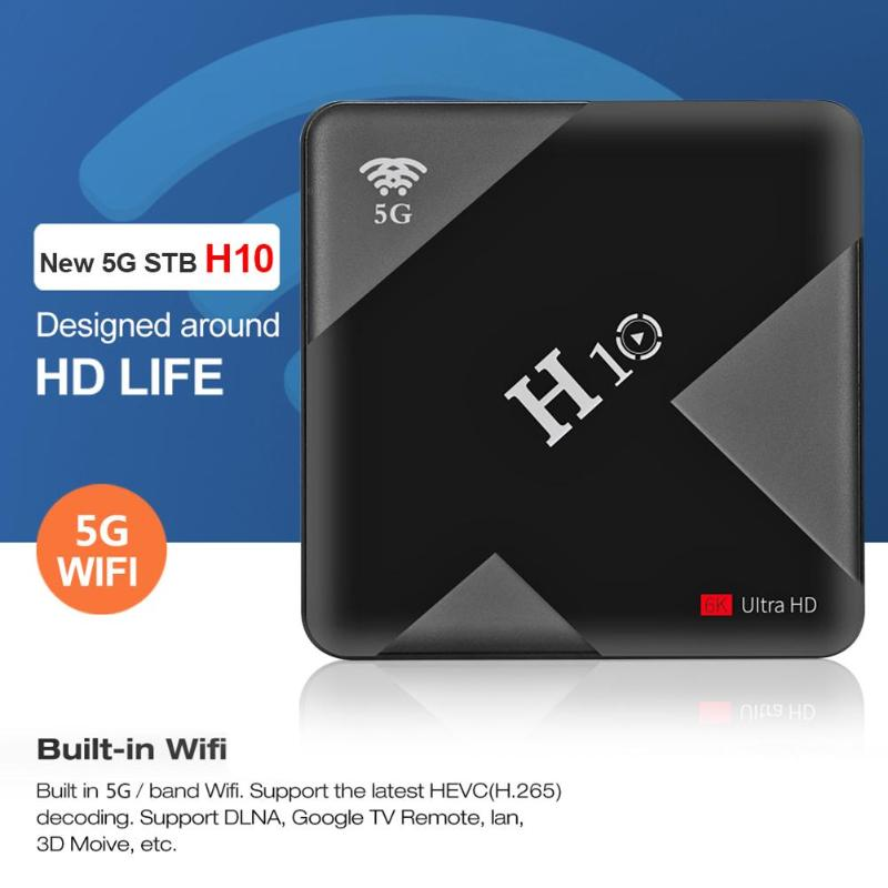 H10 4GB+32GB/4GB+64GB Smart TV Box Allwinner H6 Quad Core CPU Mali T720 GPU  Android 9 0 WIFI H 265 6K 3D Set Top Box TV Receiver