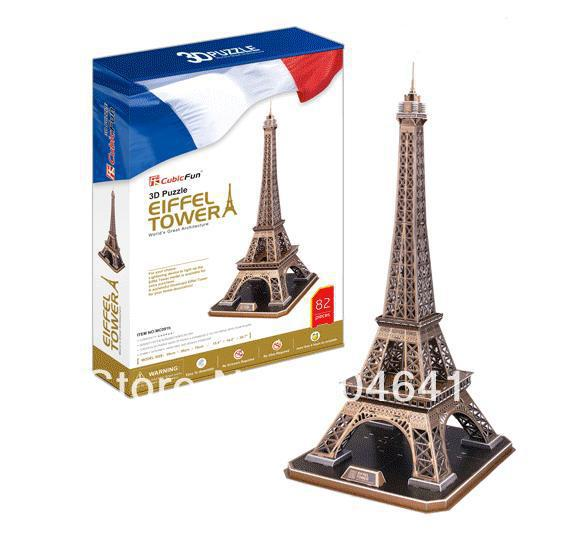 Eiffel Tower CubicFun 3D educational puzzle Paper & EPS Model Papercraft Home Adornment for christmas birthday gift wat phra kaew cubicfun 3d educational puzzle paper