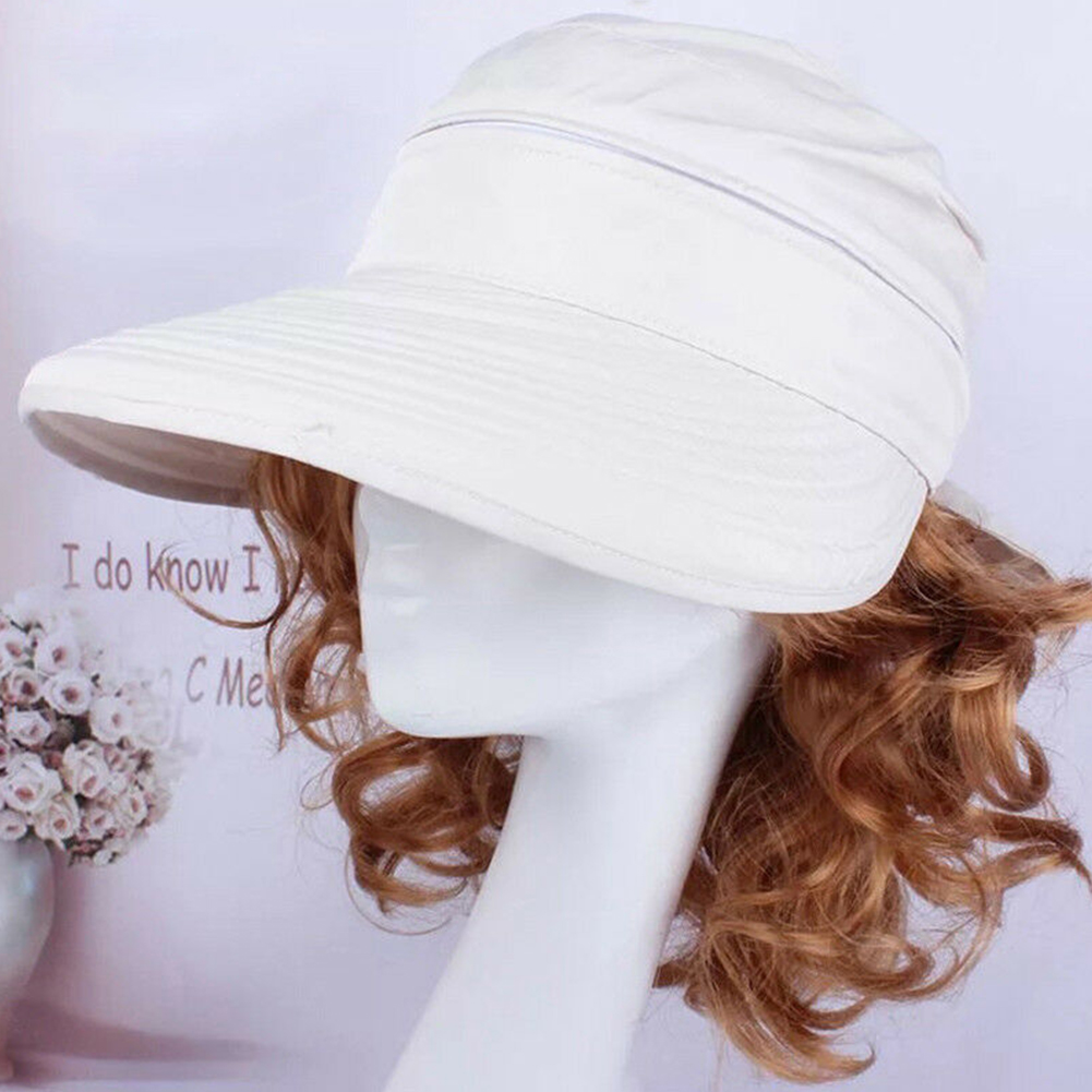 Korean Style Hiking Bowknot Visors Outdoor Sun Hat Fashion Ladies Solid Foldable Cap Summer Beach Practical Travel
