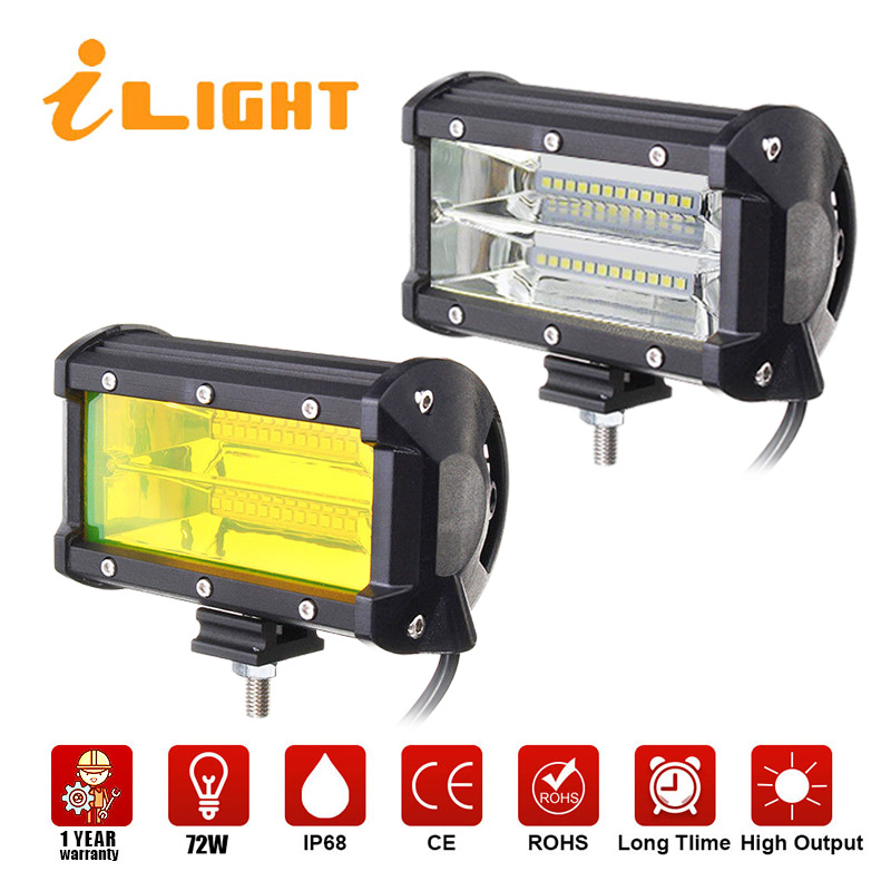 2x LED Bar 12 v Beleuchtung Bar 4X4 arbeit led auto Strahl 24 v flutlicht Auto Barra Luces led Para Auto Offroad Lampe Foglighting iLight