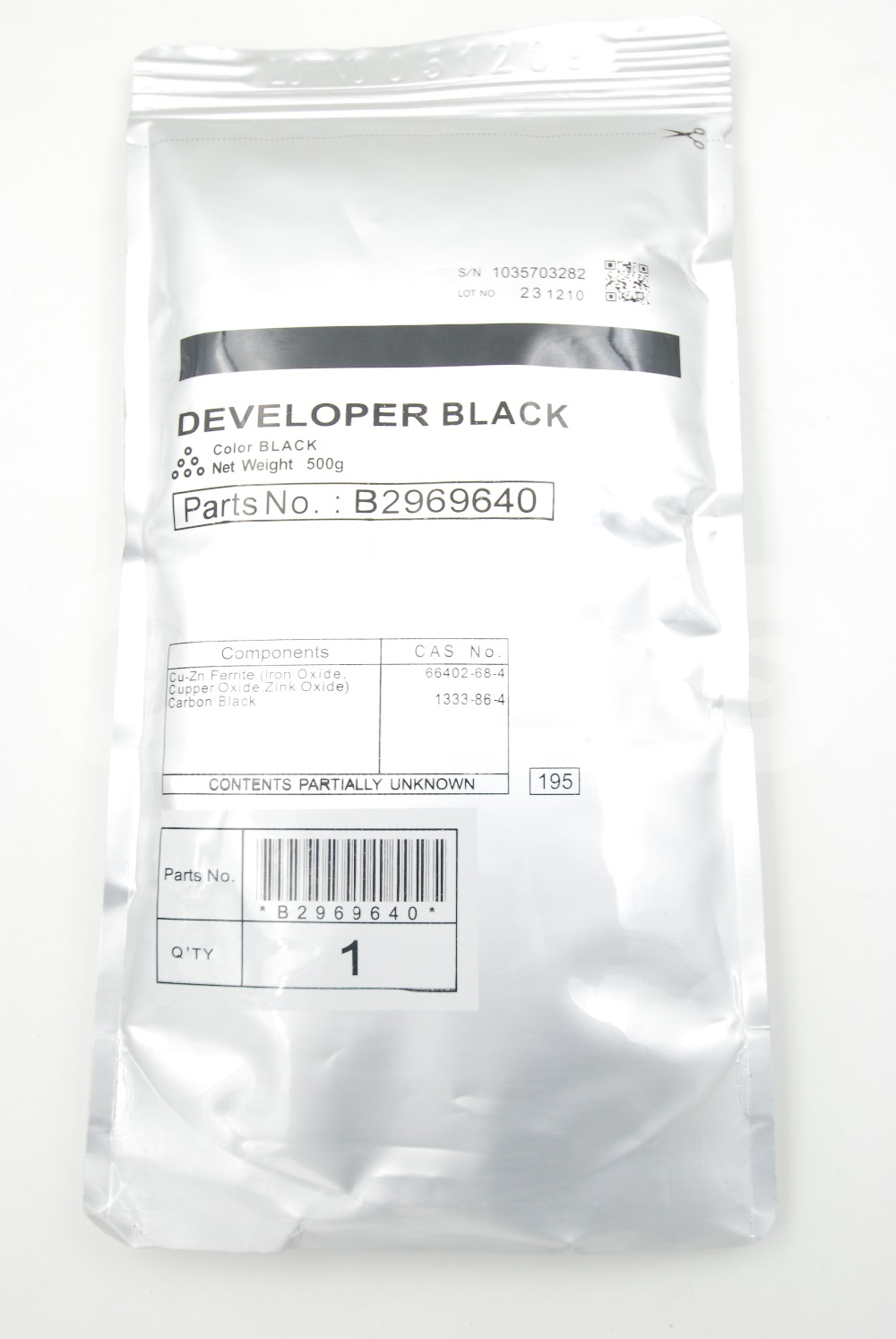 B296-9640 B2969640 Black Developer 500g for Ricoh Aficio MP 3500 4000 4001 4002 4500 5000 5001 5002 SP 8200 MP 4001 5001 LD 040